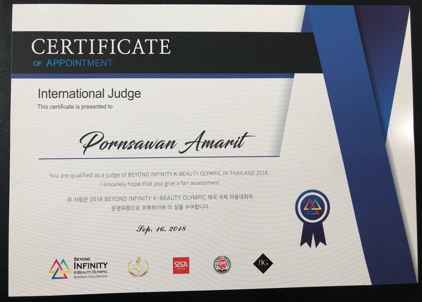Certificate International Judge